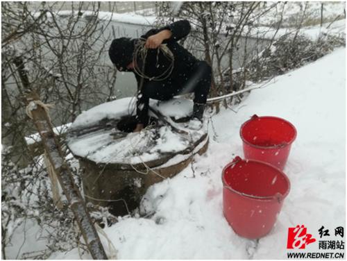 【防冰抗冻,雨湖在行动】鹤岭镇村干部送温暖,雪天慰问情暖老人心