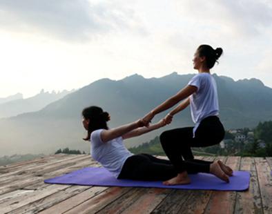 山野田园秀瑜伽