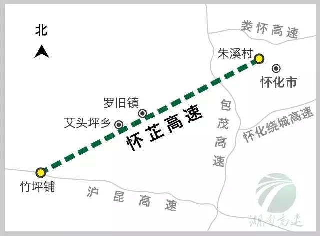怀芷高速计划9月底前全部完工