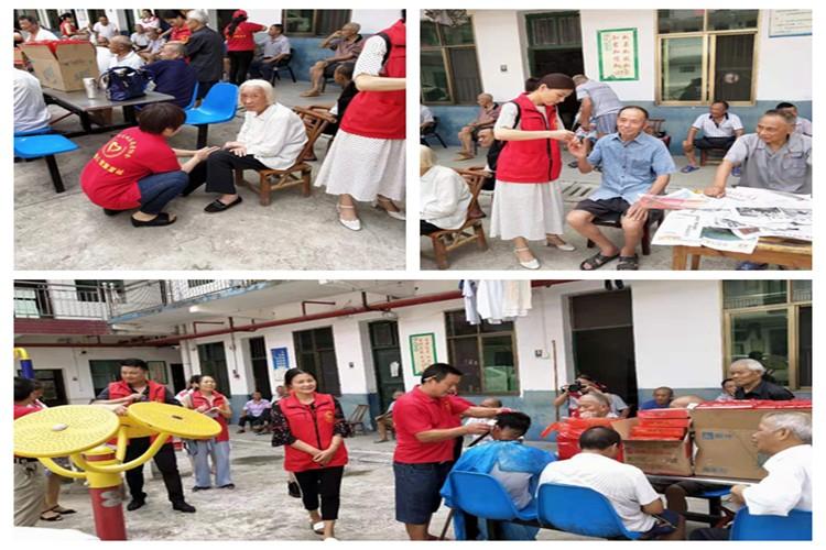 中沙镇:志愿者走进敬老院与老人欢度佳节