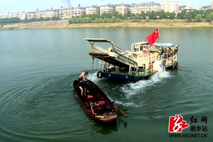 清理涟水河河道障碍物 改善水生态环境