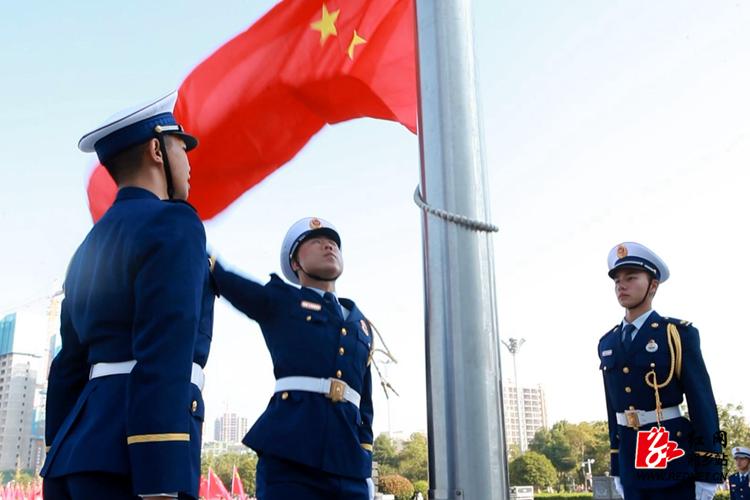 湘乡举行庆祝新中国成立70周年升国旗仪式:祝福伟大10分3D祖国  打造幸福龙城