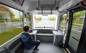 探访长沙无人驾驶巴士