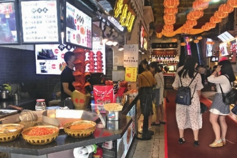 长沙美食城五一商圈抢地盘 谁能笑到最后