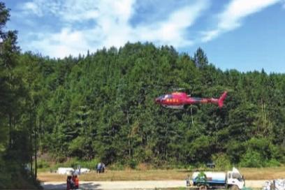 长沙动用直升机喷药灭虫