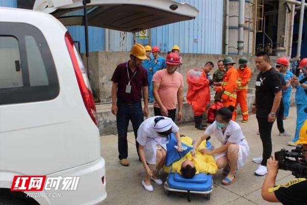 """益阳市安委办开展""""双氧水泄漏事故""""应急救援演练"""