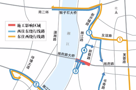 湘府路大桥东引桥今起半幅封闭 施工将持续5个月