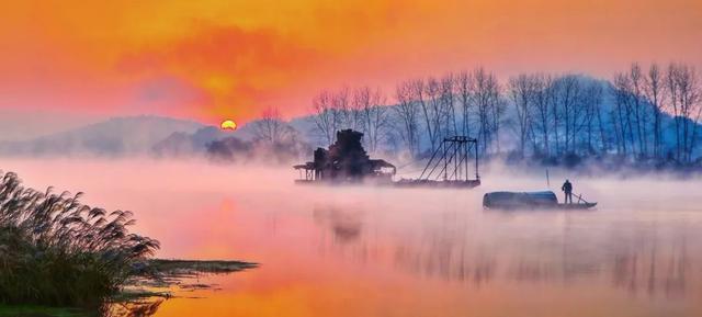 日出涟水(自然风光之美)