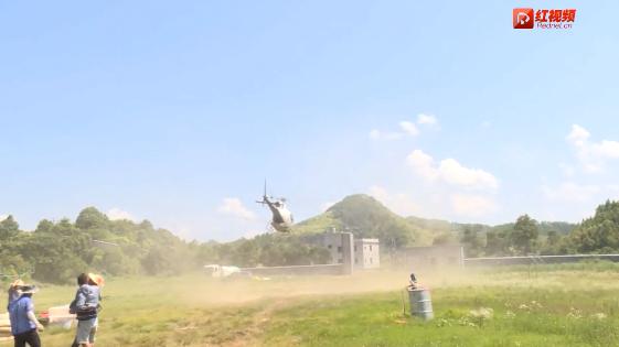 邵阳县:大型直升机防治松毛虫