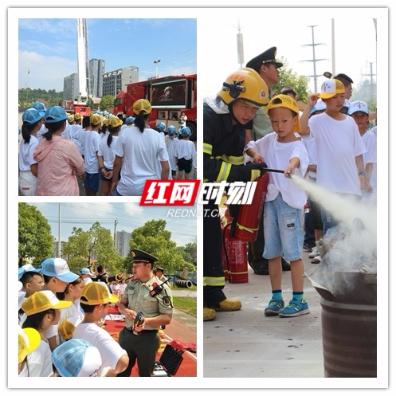"""永州市中心医院组织""""童子军""""走进消防支队"""