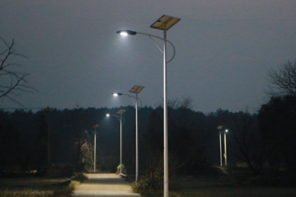 回龙圩:300盏路灯照亮新农村