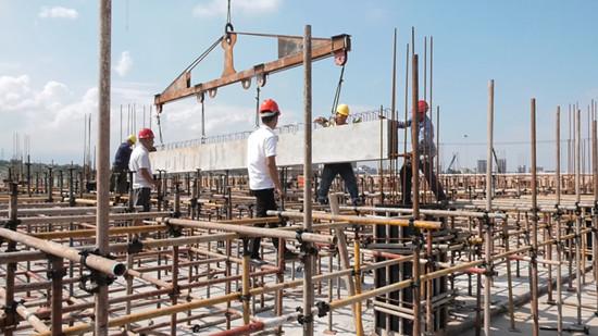 湖南医药学院整体搬迁项目开始装配施工