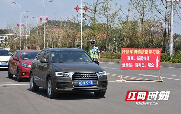 衡山交警全天保畅 助力省运会柔道比赛