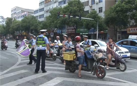 """""""三城同创""""在行动:怀化城区开展摩托车交通违法集中整治"""