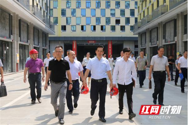 郴州市领导调研粤泰 · 生活城项目营商环境