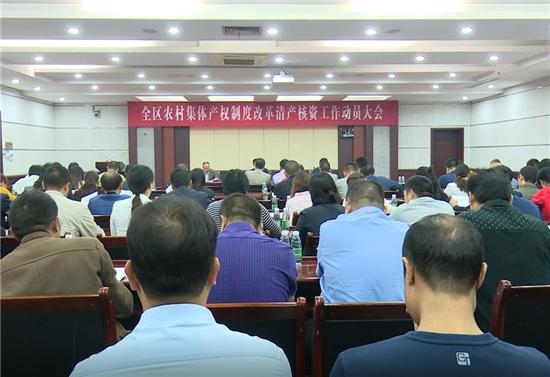 鹤城区召开全区农村集体产权制度改革清产核资工作动员会