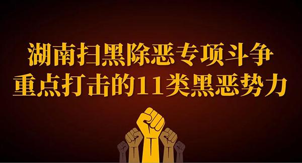 一图了解湖南扫黑除恶专项斗争重点打击的11类黑恶势力!