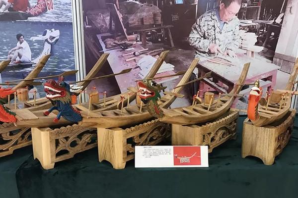 """永州""""非遗""""道州龙船和江永女书文创产品在第六届湖南艺术节展出"""