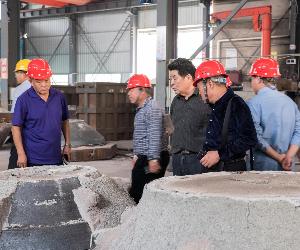 山东省铸造协会代表团来双峰考察铸造行业