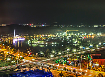嘉滨湖夜景