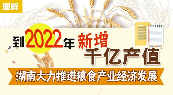 图解:到2022年,湖南粮食产业新增1000亿元产值
