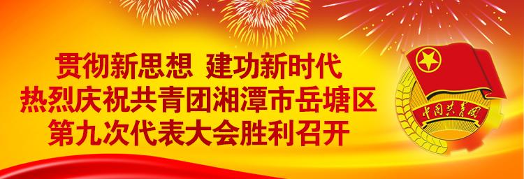 共青团湘潭市岳塘区第九次代表大会
