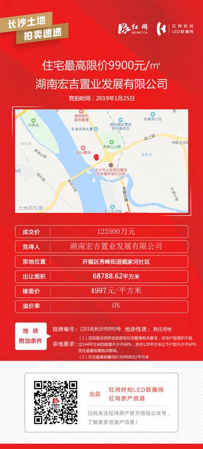 """长沙开福区1宗商住地成功""""出嫁"""" 天心区2宗商业用地中止交易"""