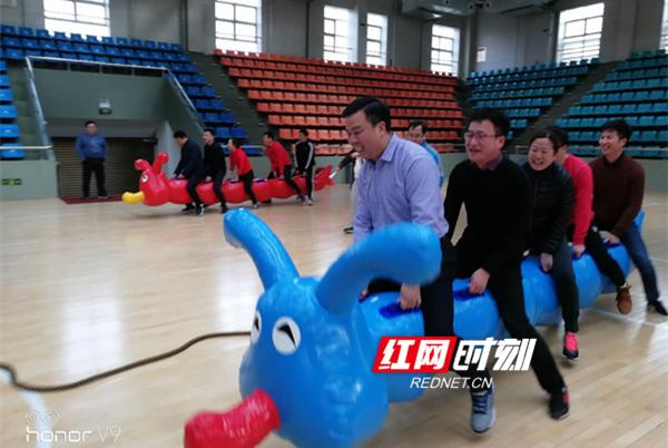 市委组织部与市总工会举办迎新春趣味运动会
