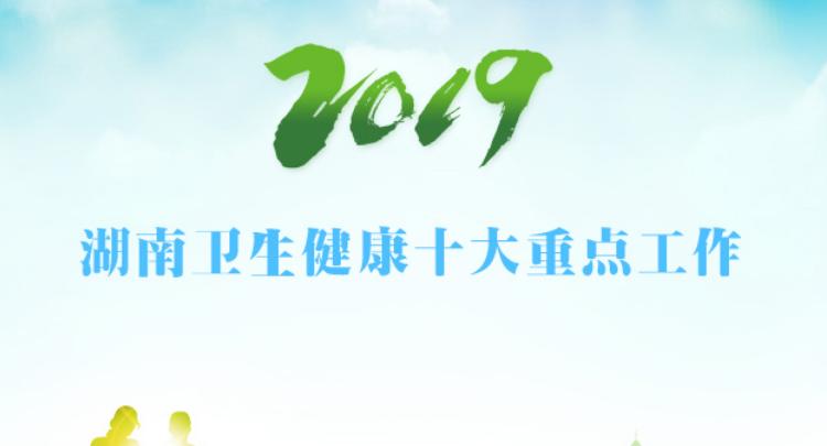 2019湖南卫生健康十大重点工作