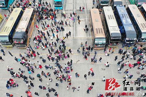春运已过半 道县安全运送旅客70万人次