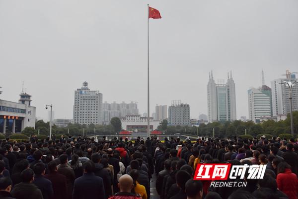永州市委机关升国旗仪式现场。.jpg