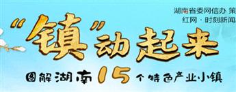 """""""镇""""动起来·图解湖南15个特色产业小镇"""