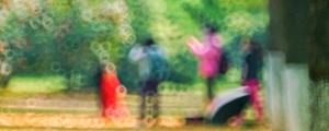 折返镜头下的橘洲公园 四月春光梦幻如油彩画