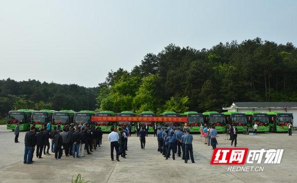 江华:50台新能源公交车正式投入运营