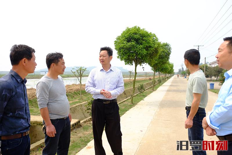 李冯波督查白塘镇扫�婧诔�恶、集中攻坚、防汛备汛等工作