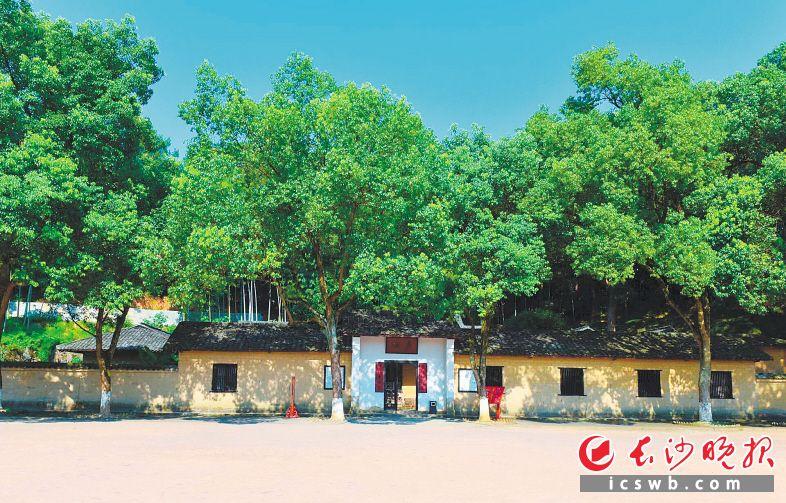 长沙县开慧镇板仓,这一处土墙青瓦的民舍,见证了毛泽东与杨昌济的师生之情、与杨开慧的夫妻之爱。  长沙晚报全媒体记者 姜国  摄