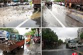 紧急行动!桑梅路妇幼保健院路口两车相撞,燃油泄漏、砂石洒落…