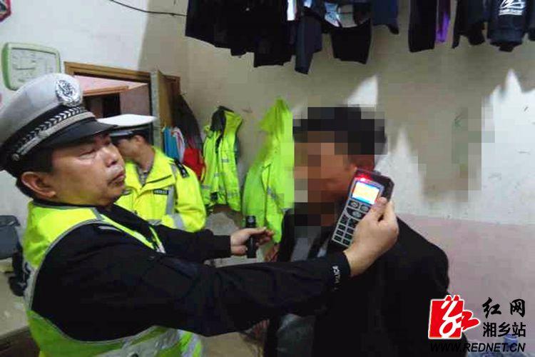 公安局:一男子无证酒驾被抓