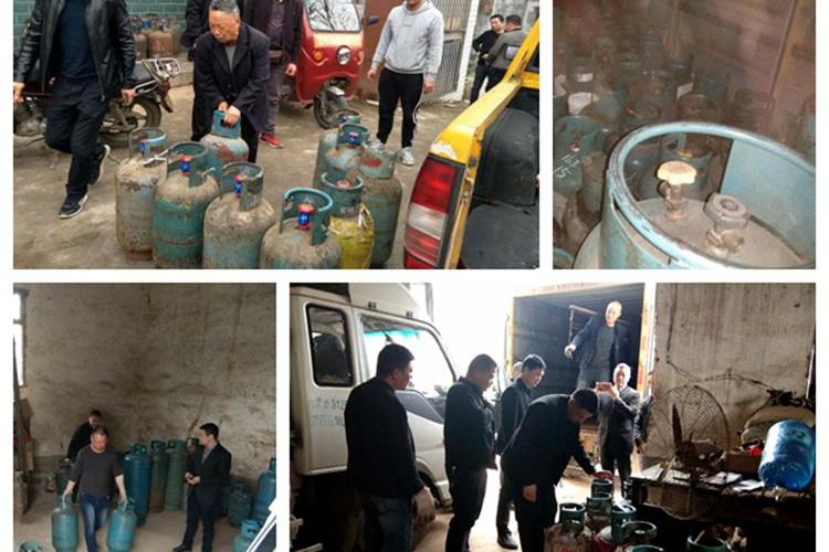 城管局:开展燃气市场安全检查 扣留安全隐患气瓶56只