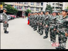 永顺县交通战线组织民兵应急连开展集合点验