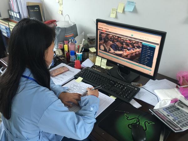 """回龙圩:组织广大党员干部和团员青年收听收看""""纪念五四运动100周年大会""""直播"""