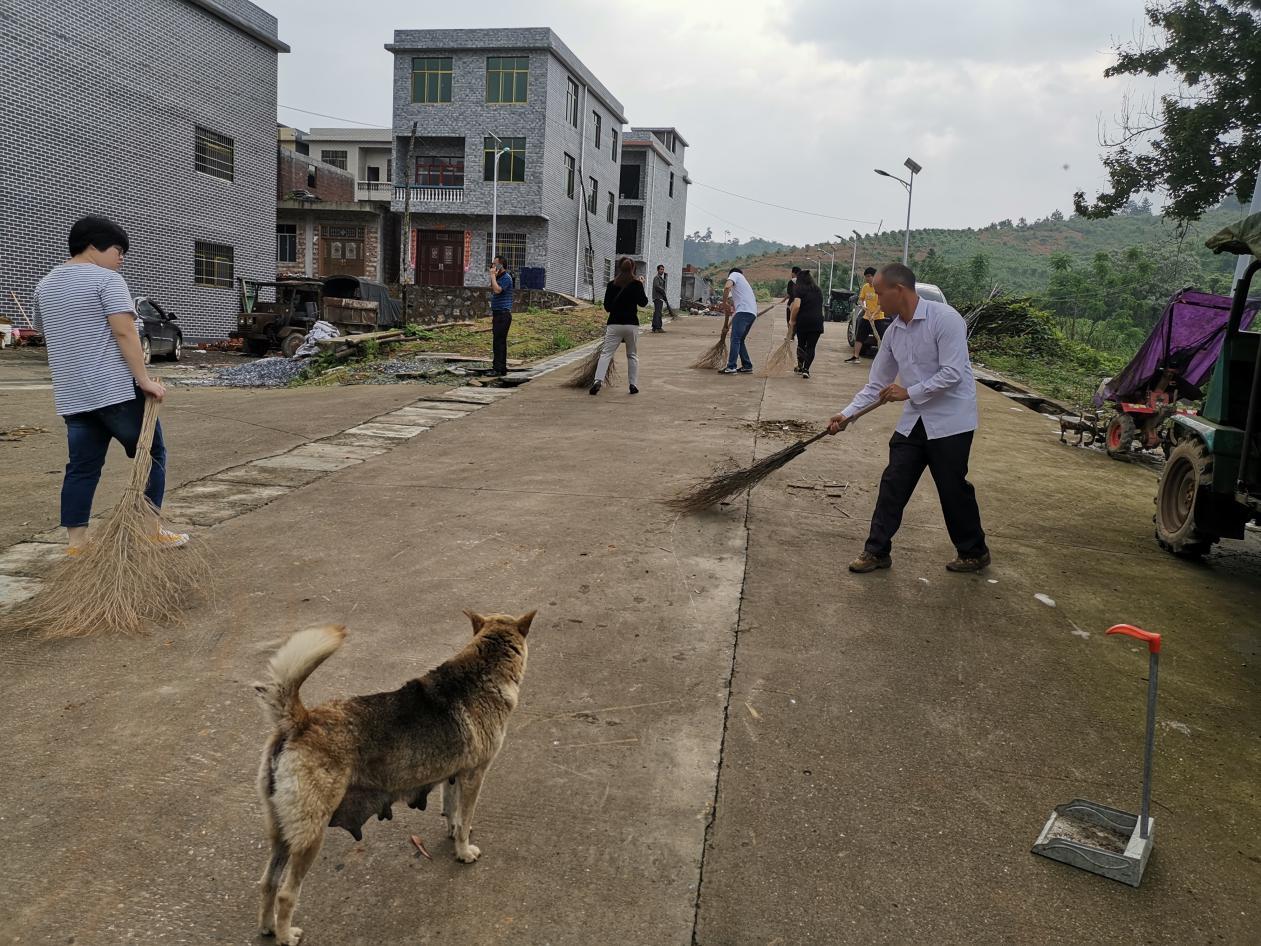 回龙圩管理区:回龙圩镇干部群众齐动手 村庄清洁再行动