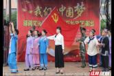 石门夹山镇三板桥社区文化搭台文明社区创建唱戏