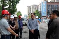 安乡:张阳现场调度部分项目建设工作