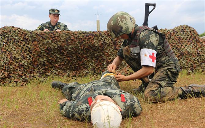 """仗怎么打兵怎么練 武警郴州支隊舉行""""戰盾-19""""保障力量大比武"""