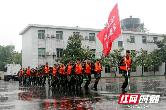 实战化练兵 常德武警组织抗洪抢险出动演练