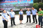 公安局:湘潭市公安局交警支队来湘乡检查交通安全文明教育工作