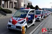 8乡镇配发巡逻防控电动车,湘乡平安建设工作再推进
