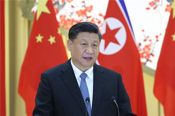 习近平出席朝鲜劳动党委员长、国务委员会委员长金正恩举行的欢迎宴会