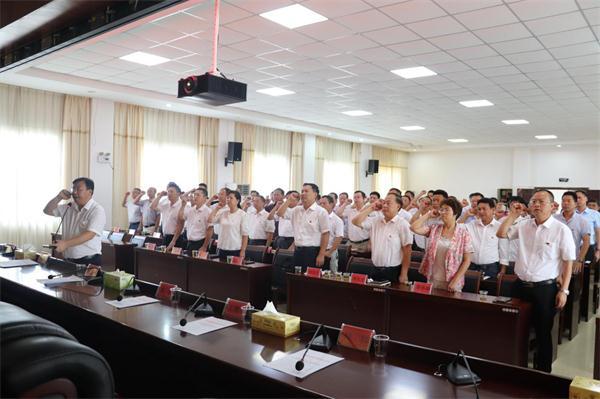 回龙圩:召开庆祝建党98周年暨总结表彰大会